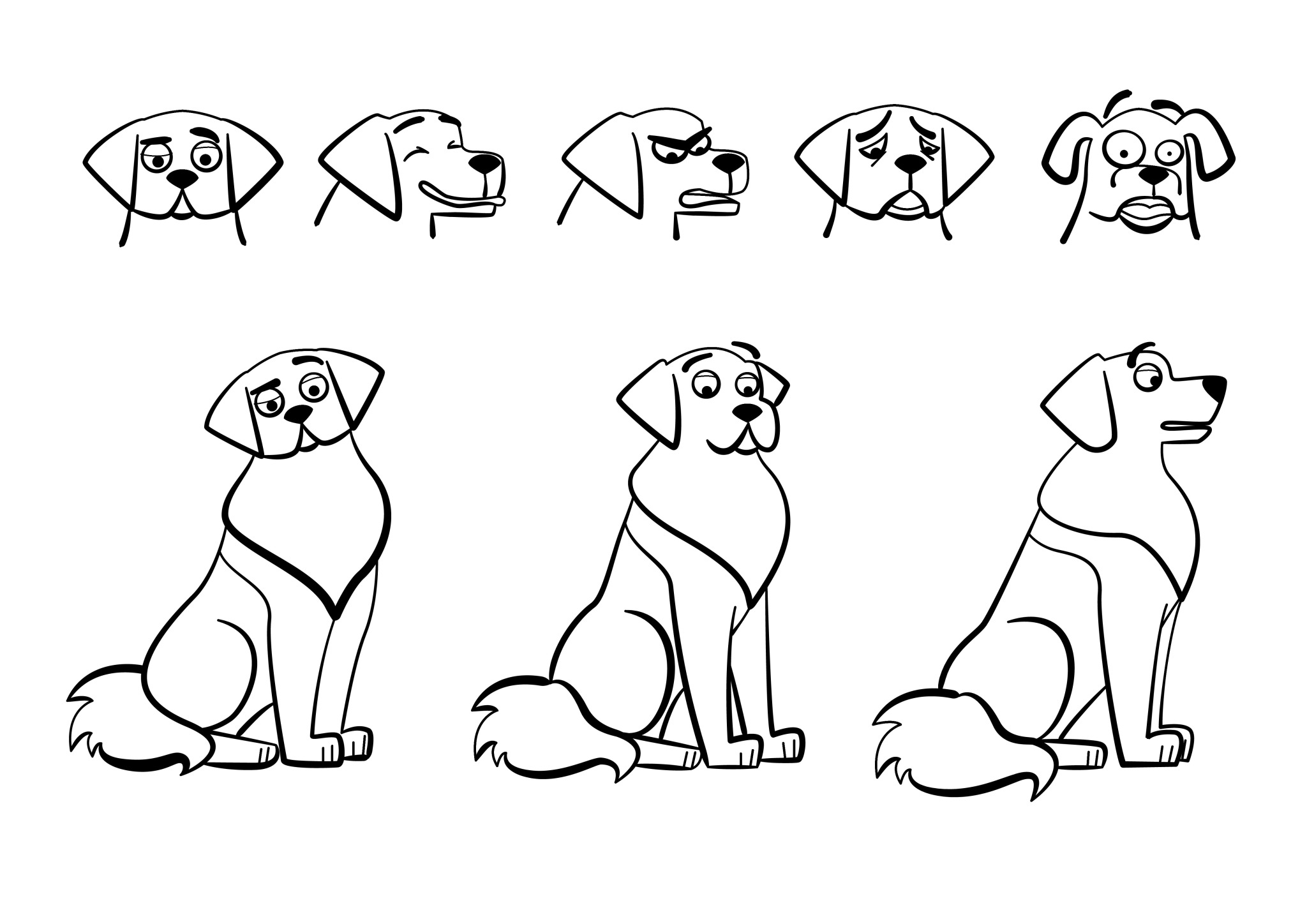 dog_turnaround_trazogrueso_dog_turnaround and poses
