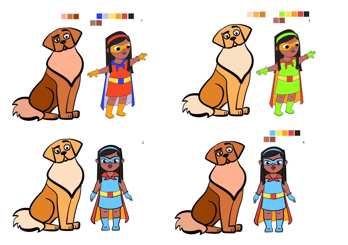 girl and dog_colour test_colour tests_dog and girl